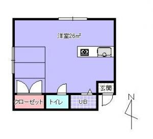 402号室平面図