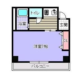 503号室平面図